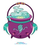 Kawaii Ghost Cauldron