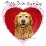 Valentine's Day Golden Retrievers