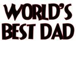 WORLD'S BEST DAD DARK RED