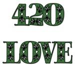 420 LOVE MARIJUANA STYLE