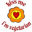 Kiss me. I'm Vegetarian T-shirt & Gift