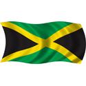 Wavy Jamaica Flag