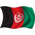 Wavy Afghanistan Flag