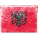 Vintage Albania Flag