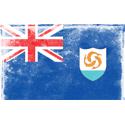 Vintage Anguilla Flag