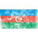 Vintage Azerbaijan Flag