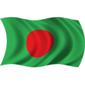 Wavy Bangladesh Flag