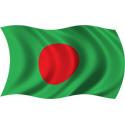 Wavy Bangladesh Flag