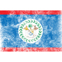 Vintage Belize Flag