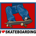 I Love Skateboarding