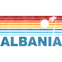 Retro Albania Palm Tree