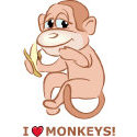 I Love Monkeys T-shirt & Gift