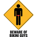 Funny Bikini Guys T-shirt