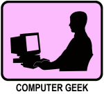 Computer Geek (pink)