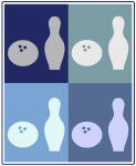 Bowling (blue boxes)