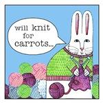 Knitting Bunny