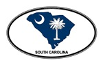 South Carolina Shape Flag Oval