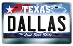 Texas License Plate [DALLAS]