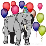 Elephant Circus theme birthday