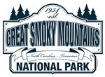 Great Smoky Mountains National Park Blue Sign