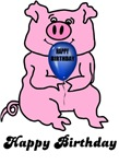 HAPPY BIRTHDAY (HUGE PINK PIG)