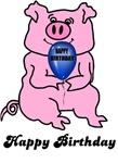 HAPPY BIRTHDAY (HUGE PINK PIG)