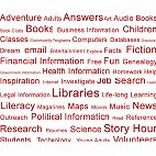 Red Library Tag Cloud
