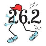 Blue Funny Marathon Runner