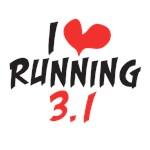 I heart (love) running 3.1 miles (5ks)