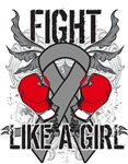 Brain Cancer Ultra Fight Like A Girl Shirts