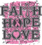 Breast Cancer Faith Hope Love Shirts