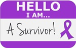 Pancreatic Cancer Hello I'm A Survivor Shirts