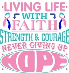 Thyroid Cancer Living Life With Faith Shirts