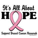 It's All About Hope Breast Cancer T-Shirts & Gifts