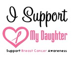 I Support (Daughter) Breast Cancer T-Shirts