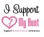 I Support (Aunt) Breast Cancer T-Shirts