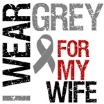 I Wear Grey For My Wife Brain Cancer T-Shirts