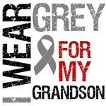 I Wear Grey (Grandson) Brain Cancer T-Shirts