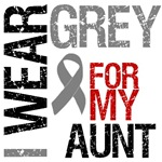 I Wear Grey (Aunt) Brain Cancer Shirts