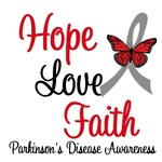 Parkinson's Disease HOPE LOVE FAITH Shirts & Gifts