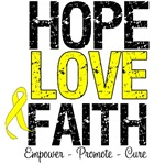 Hope Love Faith Bladder Cancer Shirts