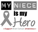 Brain Cancer Hero (Niece) T-Shirts & Gifts