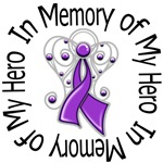 In Memory of My Hero Pancreatic Cancer Angel Shirt