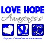 Love Hope Awareness Colon Cancer Gifts