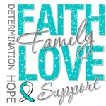 Cervical Cancer Faith Family Collage Shirts