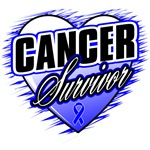 Colon Cancer Survivor Grunge Heart Shirts