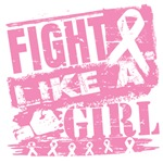Breast Cancer Burnout Fight Like A Girl Shirts