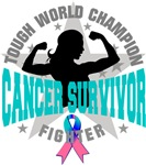 Thyroid Cancer Tough Survivor Shirts