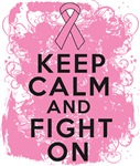 Breast Cancer Keep Calm Fight On Shirts