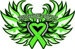 Lymphoma Heart Awareness Wings Shirts